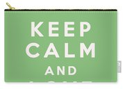 Keep Calm And Love Cupcakes Carry-all Pouch