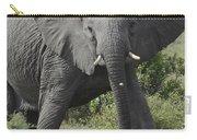 Kenya Masai Mara Charging Elephant  Carry-all Pouch