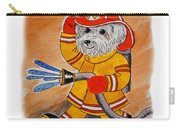 Kids Art Firedog Firefighter  Carry-all Pouch