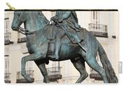 King Charles IIi Statue In Madrid Carry-all Pouch