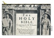 King James I Bible, 1611 Carry-all Pouch