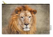 King Of Beasts Portrait Of A Lion Carry-all Pouch