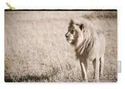 King Of Cats In Sepia Carry-all Pouch