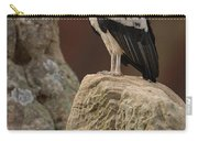 King Vulture Sarcoramphus Papa Perched Carry-all Pouch by Pete Oxford