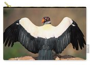King Vulture Sarcoramphus Papa Sunning Carry-all Pouch by Pete Oxford