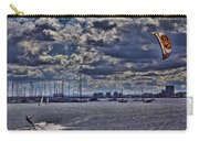 Kite Surfing At St Kilda Beach Carry-all Pouch by Douglas Barnard