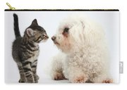 Kitten & Pup Confrontation Carry-all Pouch