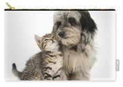 Kitten And Daxie-doodle Puppy Carry-all Pouch