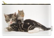 Kitten And Squirrel Carry-all Pouch by Jane Burton