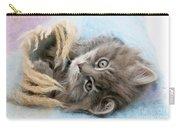 Kitten In Blanket Carry-all Pouch