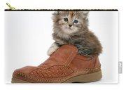 Kitten In Shoe Carry-all Pouch