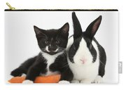 Kitten, Rabbit And Carrot Carry-all Pouch