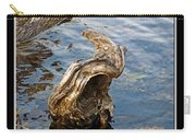 Knarled Stump In The Water Carry-all Pouch