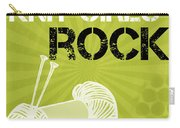 Knit Girls Rock Carry-all Pouch by Linda Woods