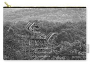 Knobels Wooden Roller Coaster Black And White Carry-all Pouch