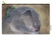 Koala Sleeping Carry-all Pouch by Betty LaRue