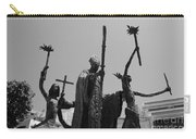 La Rogativa Statue Old San Juan Puerto Rico Black And White Carry-all Pouch by Shawn O'Brien