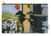 La Rosa Alla Finestra Carry-all Pouch by Guido Borelli