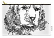 Labrador-portrait-drawing Carry-all Pouch