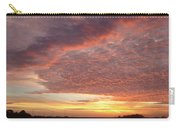 Lacy Pink Sunset Carry-all Pouch