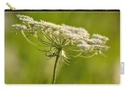 Lacy White Flower Carry-all Pouch