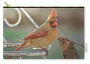 Lady Cardinal With Her Crown On Carry-all Pouch