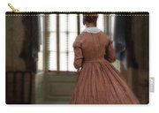 Lady In 19th Century Clothing Looking Out Window Carry-all Pouch