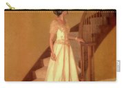 Lady In Lace Gown On Staircase Carry-all Pouch