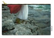 Lady In Vintage Clothing By The Sea Carry-all Pouch