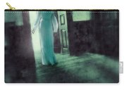 Lady In White Gown Walking Through A Mysterious Doorway Carry-all Pouch