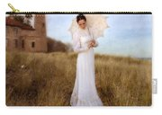 Lady In White With Parasol By The Sea Carry-all Pouch