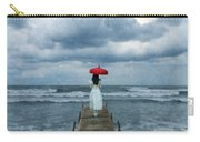 Lady On Dock In Storm Carry-all Pouch