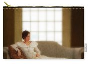 Lady Sitting On Sofa By Window Carry-all Pouch