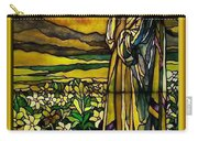 Lady Stained Glass Window Carry-all Pouch by Thomas Woolworth