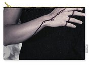 Lady With Blood And Heart Carry-all Pouch by Joana Kruse