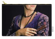 Lady With Recorder Carry-all Pouch