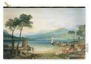 Lake Geneva And Mont Blanc Carry-all Pouch by Joseph Mallord William Turner