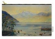Lake Leman With The Dents Du Midi In The Distance Carry-all Pouch by John William Inchbold