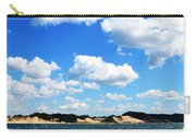 Lake Michigan Shore With Clouds Carry-all Pouch by Michelle Calkins