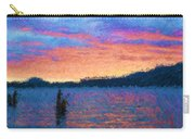 Lake Quinault Sunset - Impressionism Carry-all Pouch