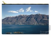 lake with Brissago islands and snow-capped mountain Carry-all Pouch