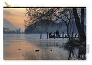 Lake With Ice In Sunset Carry-all Pouch