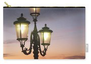 Lampost Sunset In Venice Carry-all Pouch by Catie Canetti