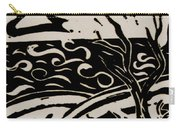 Land Sea Sky In Black And White Carry-all Pouch by Caroline Street