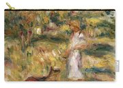 Landscape With A Woman In Blue Carry-all Pouch