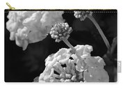 Lantana In Black And White Carry-all Pouch