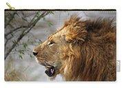 Large Male Lion Profile Portrait Carry-all Pouch