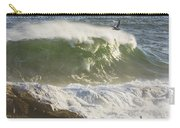 Large Waves And Seagulls Near Pemaquid Point On Maine Carry-all Pouch