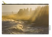 Large Waves Lightbeams Pemaquid Point Maine Carry-all Pouch