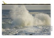 Large Waves On Rocky The Coast Maine Carry-all Pouch